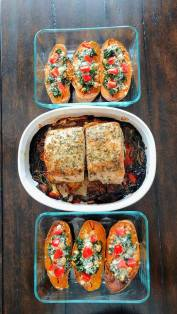 stuffed sweet pots with pork roast