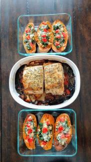 stuffed sweet pots with pork roast