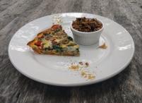 Sweet potato crust quiche with homemade granola