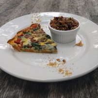 Sweet potato crust quiche with homemade granola