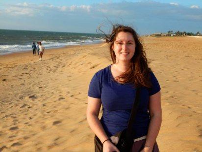 Bridgette w sand